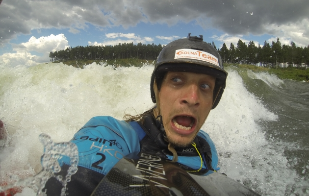 Bartosz Czauderna enjoying kayak sport